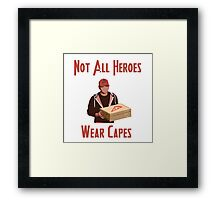 Pizza Hero Framed Print