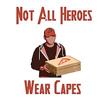 Pizza Hero Photographic Print