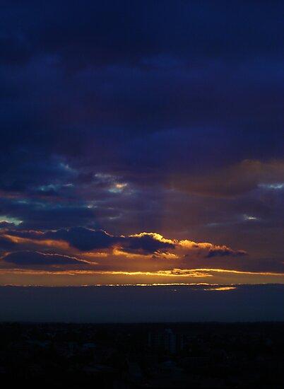 Sunset from Shangri-la (Portrait) by frozenfa