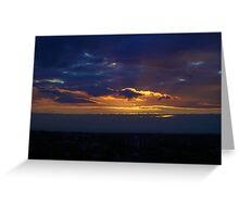 Sunset from Shangri-la (Landscape) Greeting Card