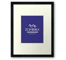 ZOMBREX Ad Framed Print