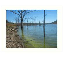Dam in western NSW ~ 2 Art Print