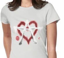 Anarchist Heart Womens Fitted T-Shirt