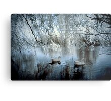 The Blue Pond Metal Print