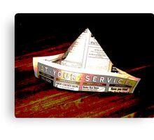 origami news Canvas Print