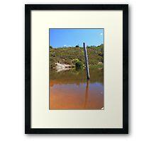 Outback Telegraph Framed Print