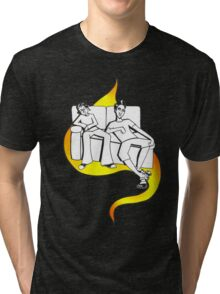 Procrastinate - flame drop Tri-blend T-Shirt
