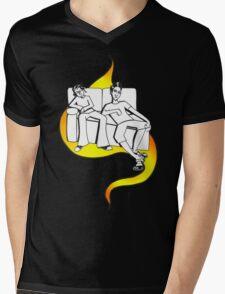 Procrastinate - flame drop Mens V-Neck T-Shirt