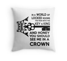Moriarty Key Quote - Black Text Throw Pillow