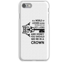 Moriarty Key Quote - Black Text iPhone Case/Skin