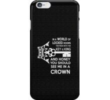 Moriarty Key Quote - White Text iPhone Case/Skin