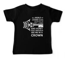 Moriarty Key Quote - White Text Baby Tee
