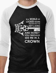 Moriarty Key Quote - White Text Men's Baseball ¾ T-Shirt