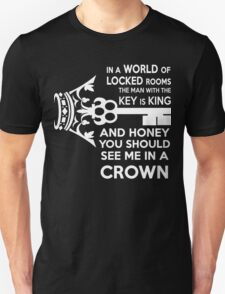Moriarty Key Quote - White Text T-Shirt