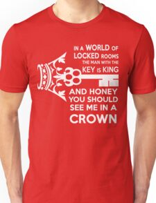 Moriarty Key Quote - White Text Unisex T-Shirt