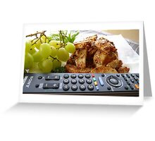 TV Dinner! - Potato Wedges - New Zealand Greeting Card
