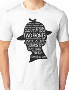 Sherlock's Hat Rant - Light Unisex T-Shirt