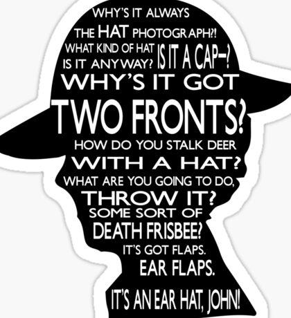 Sherlock's Hat Rant - Light Sticker