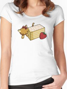 Mille Feuille Kitty Women's Fitted Scoop T-Shirt
