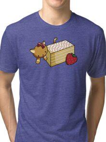 Mille Feuille Kitty Tri-blend T-Shirt