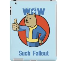 Wow Such Fallout iPad Case/Skin