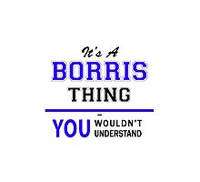 It's a BORRIS thing, you wouldn't understand !! by yourname