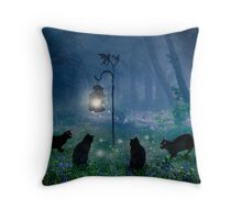 The Witches Cats Throw Pillow