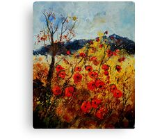 Red poppies in Provence Canvas Print