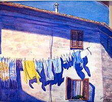 Washday in Tuscany by Carolyn Bishop