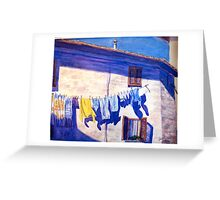 Washday in Tuscany Greeting Card