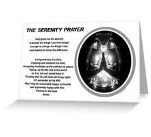 The Serenity Prayer 3 (for light colors) Greeting Card