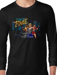 Streets of Rage (Genesis) Title Screen Long Sleeve T-Shirt