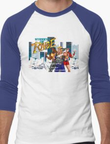 Streets of Rage (Genesis) Title Screen Men's Baseball ¾ T-Shirt