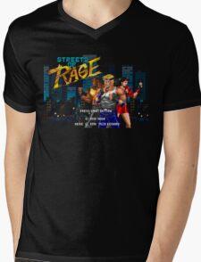 Streets of Rage (Genesis) Title Screen Mens V-Neck T-Shirt
