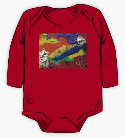 Alberta Canada abstract collage One Piece - Long Sleeve
