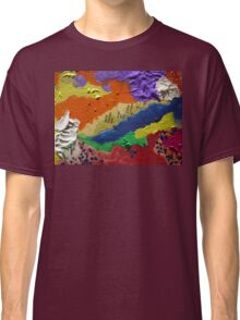 Alberta Canada abstract collage Classic T-Shirt