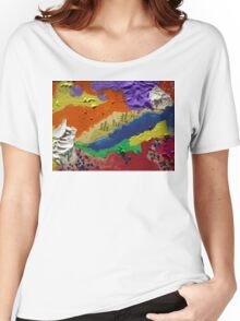 Alberta Canada abstract collage Women's Relaxed Fit T-Shirt
