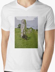 Avebury Circle B Mens V-Neck T-Shirt
