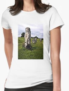 Avebury Circle C Womens Fitted T-Shirt