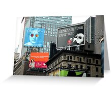 Billboards in Time Square Greeting Card