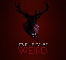 It's Fine to be Weird - Crimson by jlechuga