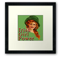 Red Headed IRISH Girl Power Framed Print