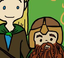 Legolas and Gimli Sticker