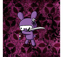 Girly Ninja Bunny Photographic Print