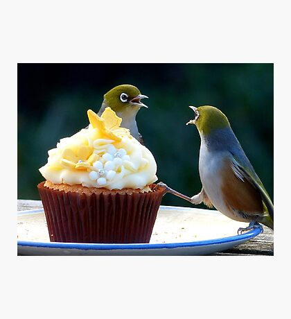 WHAT!! I'm Only Holding The Cupcake Up! - Silver-Eyes  Photographic Print