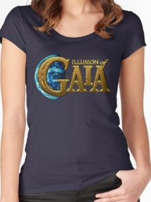 Illusion of Gaia (SNES) Title Screen Women's Fitted Scoop T-Shirt