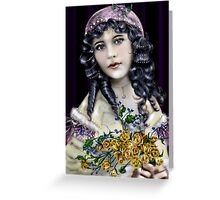 Little Raven Head Girl Greeting Card