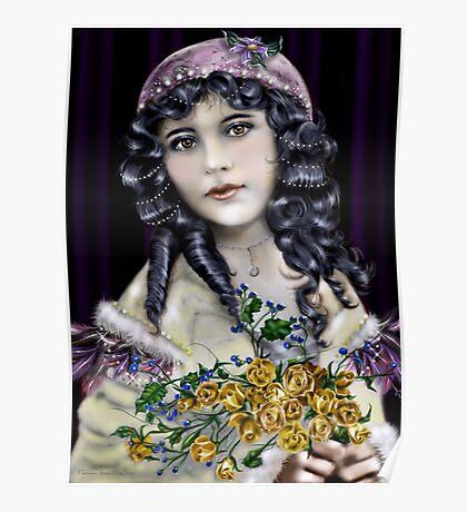 Little Raven Head Girl Poster