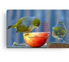 It is always better to give than to receive! - Christmas card - NZ  Canvas Print