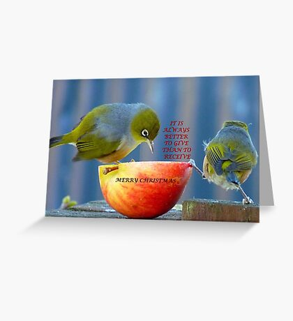 It is always better to give than to receive! - Christmas card - NZ  Greeting Card